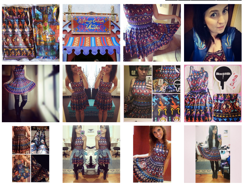 black milk instagram shoppable