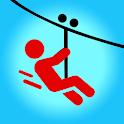Zipline Valley - Physics Puzzle Game icon