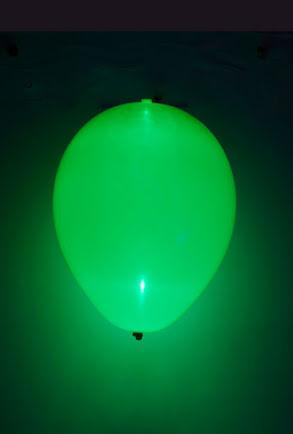 LED-ballong, grön
