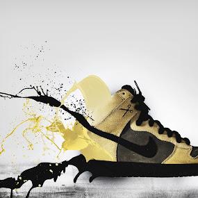 Exploding shoe by Sam  Hodgkinson - Digital Art Things