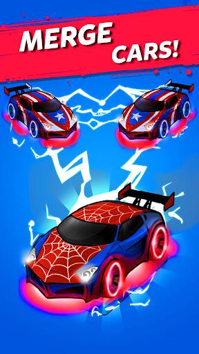 Merge Neon Car: Car Merger  screenshots 1