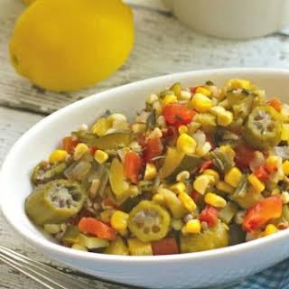 Slow Cooker Summer Vegetable Succotash.