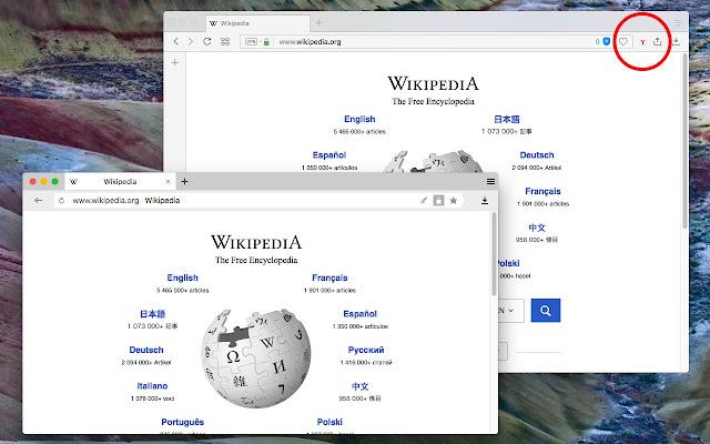 Open in Yandex browser