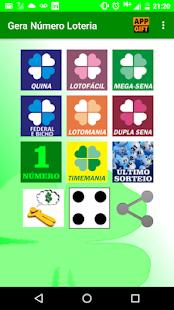 Gera Número Loteria - náhled