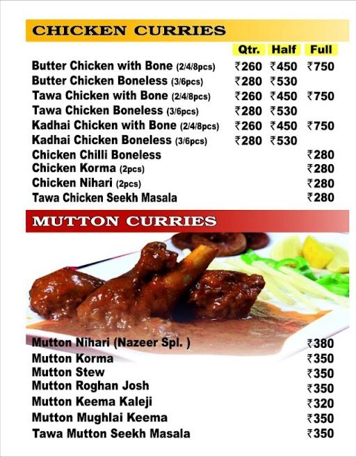 Nazeer Foods menu 4