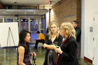 Photo: Jolie Chan of CITRIS, Lauren Mattern of SFMTA, and Melissa Summers of LBNL