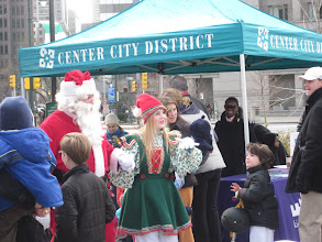 Photo: Santa and his helper (Winterfest in Sister Cities Park)
