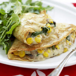 Spinach and Corn Crepes.