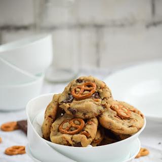 Double Peanut Butter Stuffed Pretzel Chocolate Chip Cookies