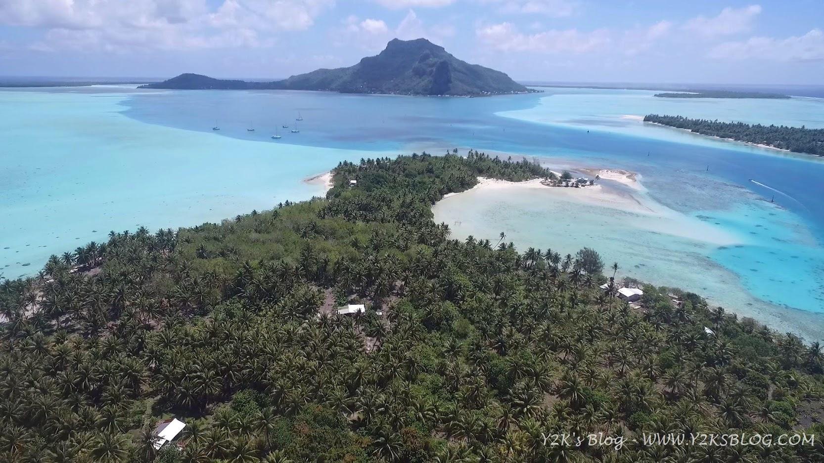 Drone View - Monte Teurafaatui di Maupiti