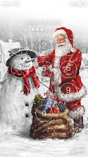Santa Claus New Year Lock Screen - náhled