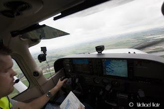 Photo: Anders forbereder landing på Zeeland Airport.