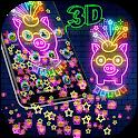 Neon Pig Gravity Theme🐷 icon
