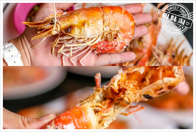 新凱門複合式釣蝦場烤蝦2