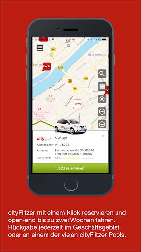 book-n-drive carsharing screenshot 2