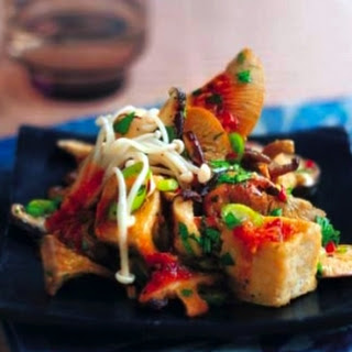 Chilli Beancurd and Mixed Oriental Mushroom Stir Fry