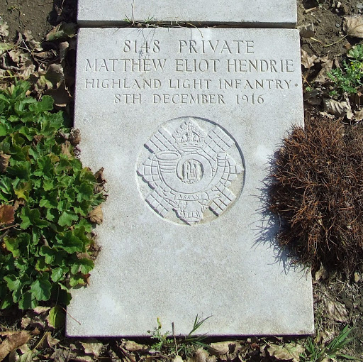 Matthew Eliot Hendrie grave