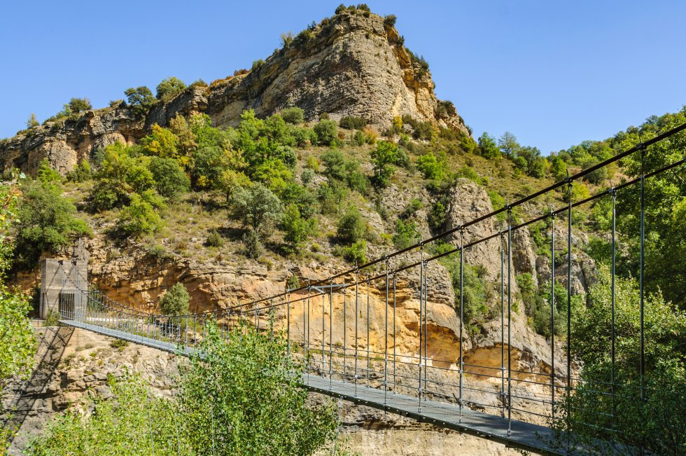 Este es el puente colgante en el barranco de Sant Jaume ¿Vértigo? Nah… ;-)