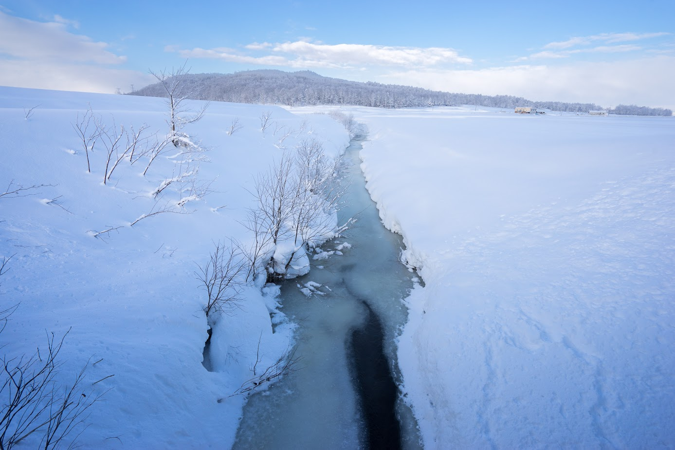 川面も凍ります