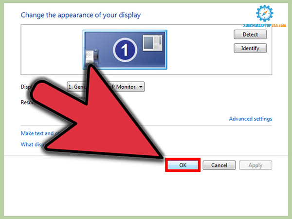 thay đổi độ phân giải màn hình laptop