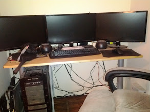 Photo: My desk before.