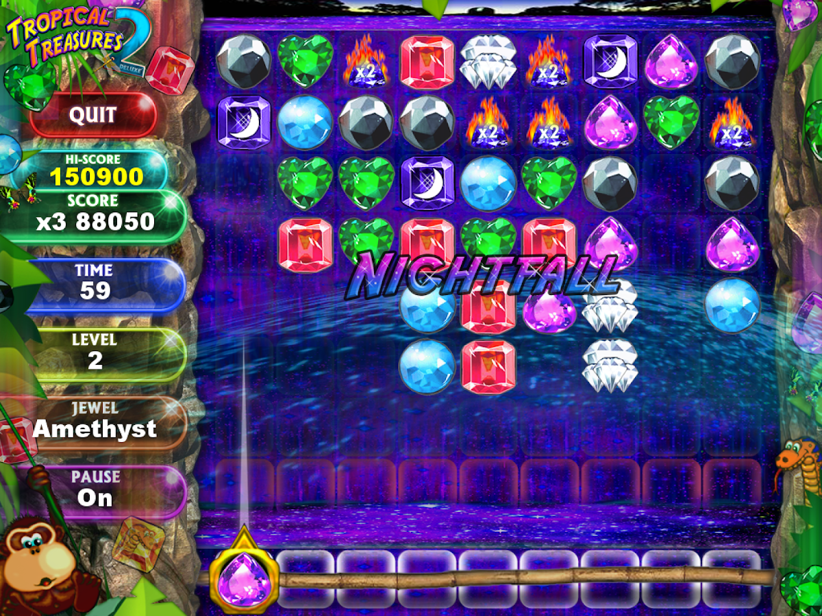 Tropical Treasure Gems 2 FREE- screenshot