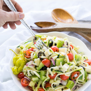 Antipasto Zoodle Salad.