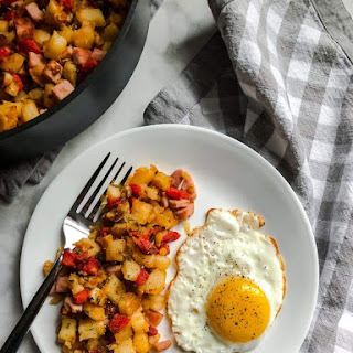 Ham and Roasted Red Pepper Hash.