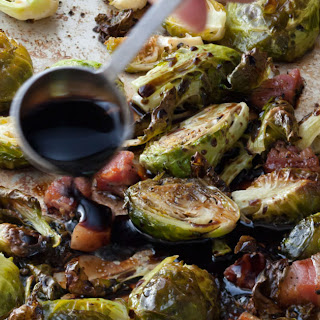 Balsamic-Roasted Brussels Sprouts.