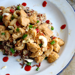 Sweet + Salty Crockpot Cashew Chicken