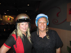Photo: Year 2 Day 104 -  Dee & Gabi With Silly Crash Hats On