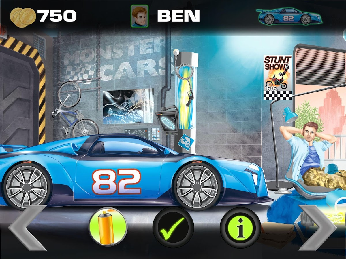 Monster Cars Racing Bydepesche Android Apps On Google Play