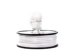 White MH Build Series PLA Filament - 3.00mm (1kg)