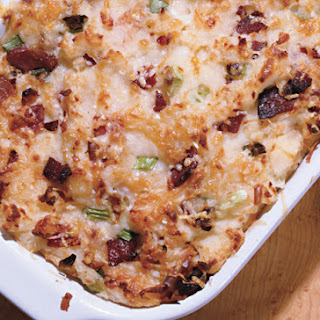 Mashed-Potato Casserole with Smoked Gouda and Bacon