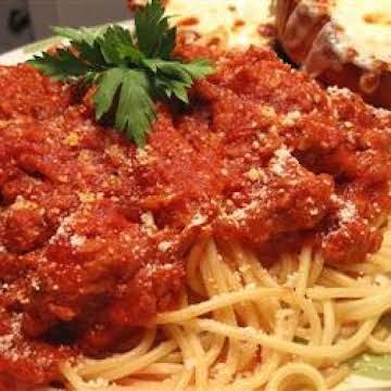 Spaghetti Sauce - From Aunt Ann