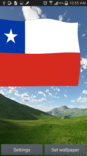 3D Chile Flag Live Wallpaper