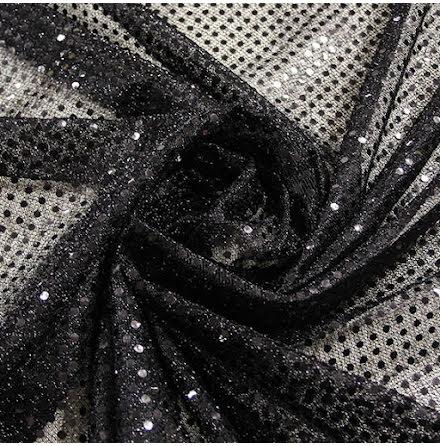 Glitterpaljett - svart