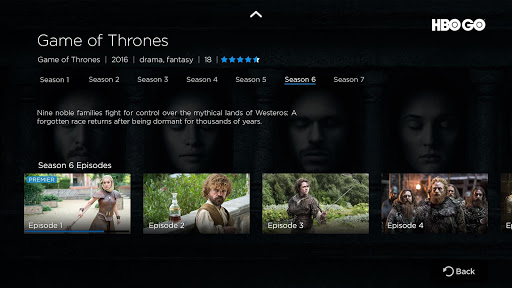 HBO GO - Android TV 5.11.4 screenshots 2