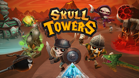 Skull Towers – Defender a Torre: Jogos offline [Mod Money] 6