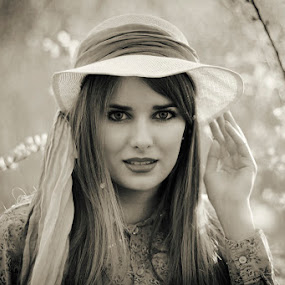 by Dragana Trajkovic - People Portraits of Women ( canon, nature, serbia, belgrade, woman, spring, hat,  )