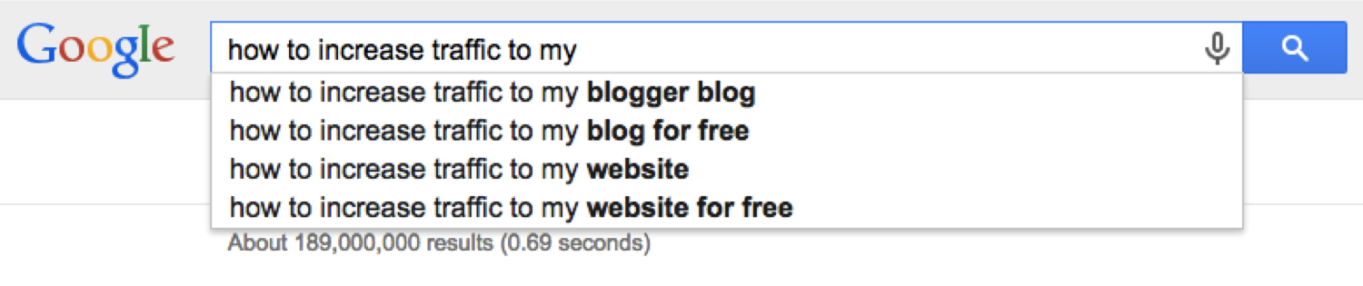how to increase traffic google suggest
