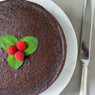Chocolate Avocado Oil Cake with Raspberry Chia Filling.