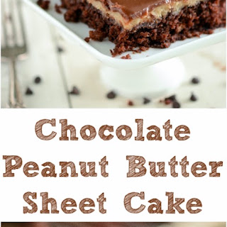 Chocolate and Peanut Butter Texas Sheet Cake