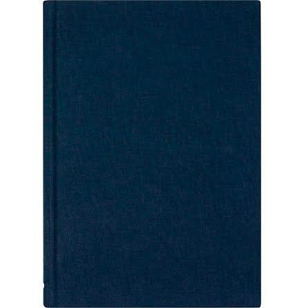 Ant.bok Linne A5 linj blå