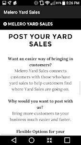 Melero Yard Sales - Search screenshot 2