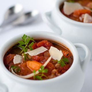 One-Pot Healthy Tuscan Minestrone Soup.