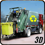 City Garbage Dump Truck Driver Icon