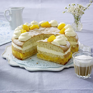 Orange and Mango Layer Cake.