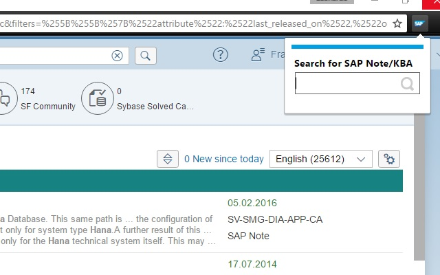 SAP Note and KBA Search