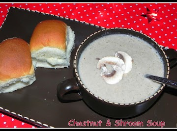 Creamy Chestnut & Savory Shrooms Soup Recipe